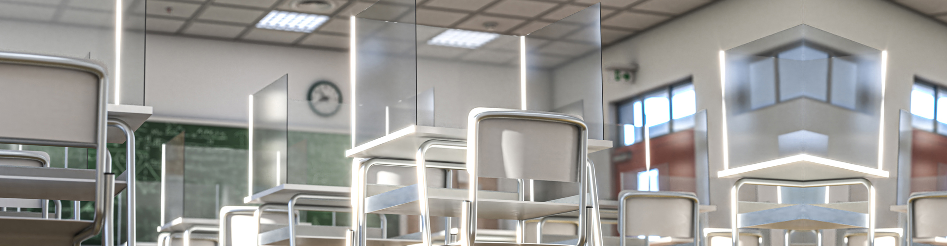 classroom chairs with sneeze guards